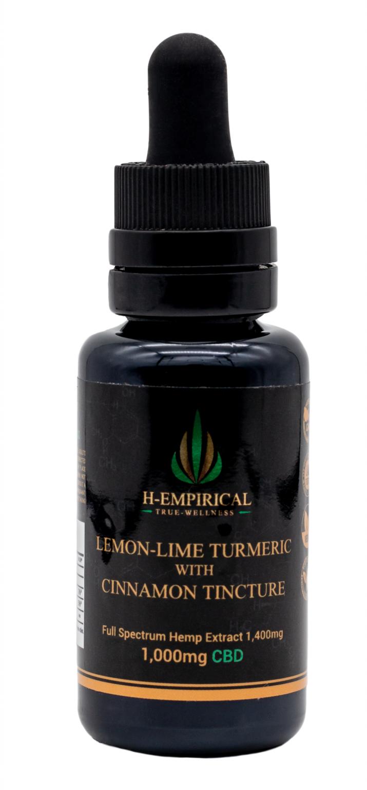 Tincture - Lemon-Lime Tumereric w Cinnamon- 1000mg