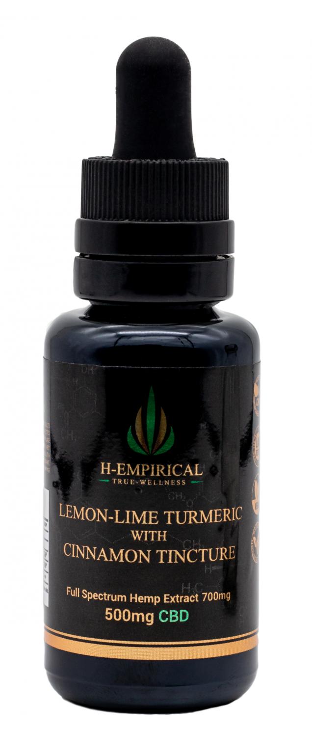 Tincture - Lemon-Lime Tumereric w Cinnamon- 500mg