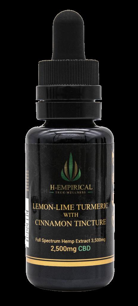 Tincture - Lemon-Lime Tumeric w Cinnamon - 2500mg