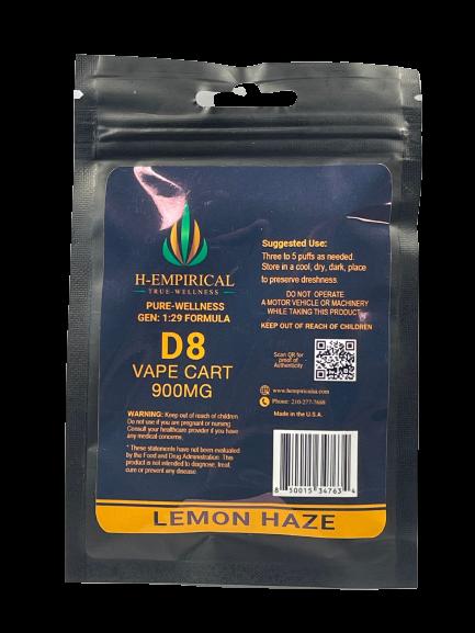 900MG D8 Vape Cart - Lemon Haze